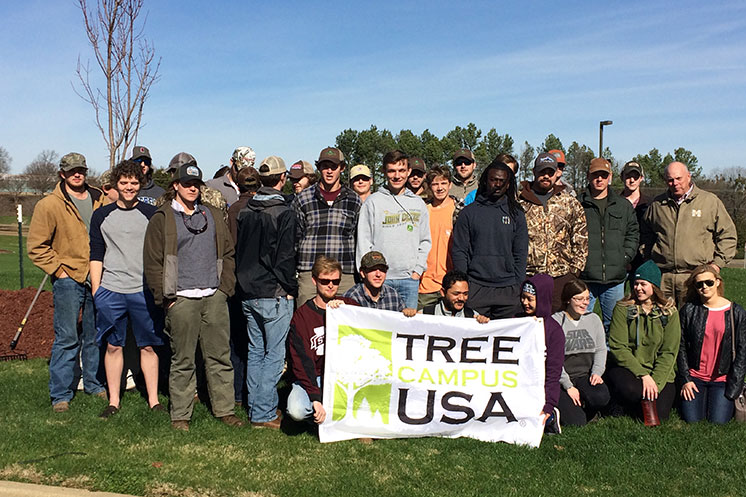 MSU celebrates Tree Campus USA designation with annual Arbor Day tree planting