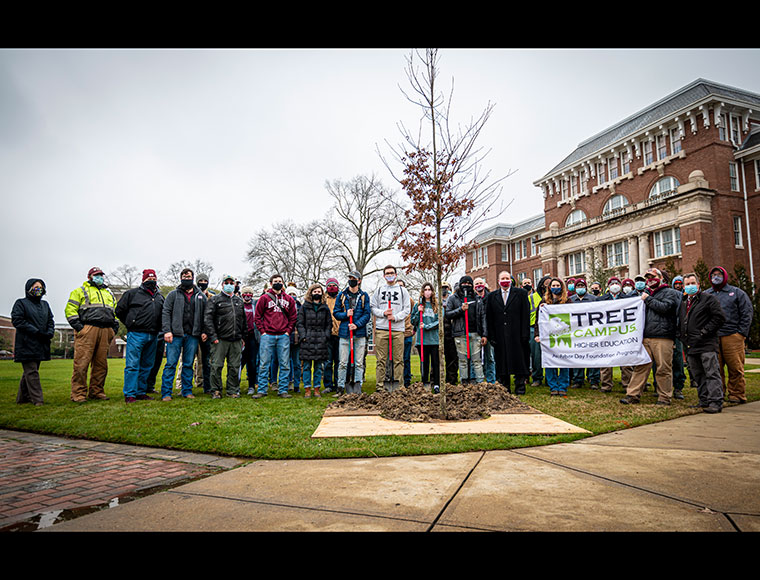 MSU celebrates Arbor Day with tree planting on Drill Field